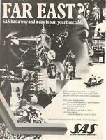 1977 Original Advertising' Vintage American SAS Scandinavian Airlines System 1aa