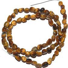 """NG2237f Golden Tiger's Eye Small (4-6mm) Pebble Nugget Natural Gemstone Bead 15"""""""