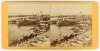 Venezia Italia Foto Stereo PL56L1n Vintage Albumina c1865