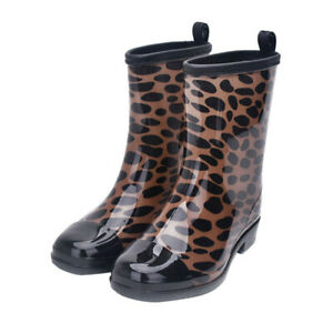 Women Rain Boots Rubber Short Waterproof Casual Floral Shoes Outdoor Ankle Boots
