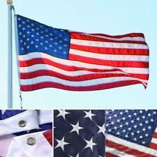 New listing 3x5 ft Us American Flag Heavy Duty Embroidered Stars Stripes Nylon Sewn L6B9