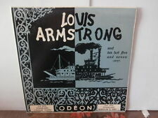 "louis armstrong/his hot five and seven 1927""lp10""or.fr.odeon:os1012.biem de 1952"