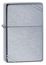 Zippo 267, 1937 Replica, Street Chrome Finish Lighter, **6 Extra Flints & Wick**