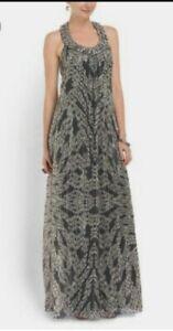 Diane Von Furstenberg Willemma Embellished Silk Maxi Gown REG $825