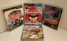 4 Ps3 Games Cars 2 Angry Birds Trilogy Mod Nation Racers Little Big Planet