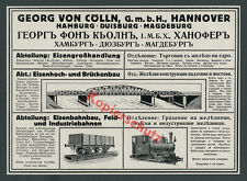Reklame Feldbahn Schmalspur Dampflok Zug Georg von Cölln Hannover Bulgarien 1916