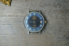 Rare Collectible USSR WATCH VOSTOK EARLY NEPTUNE BLUE DIAL 2414A SERVICED X117