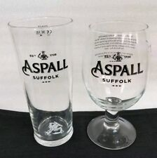 His and Hers Aspall Suffolk Cider Pint Glasses.  NEW - Ideal for Home Bar - Pub