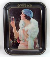 Vintage 1973 Coca Cola Serving Tray Flapper Party Girl Advertising