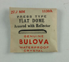 VINTAGE BULOVA PRESS TYPE FLAT DOME WATCH CRYSTAL - 27.7mm - PART# 1130A
