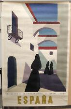SPAIN POSTER by GUY GEORGET ORIGINAL VINTAGE 38 x 25''