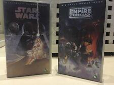 Star Wars And Empire Strikes Back CBS Fox Video VHS retro vhs video pal
