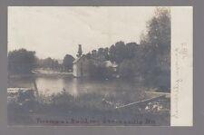 1907 Real Photo Postcard Springville, New York Fireman's Building