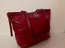 Authentic Coach Signature Patent Leather Raspberry Tote Bag NWT 15142