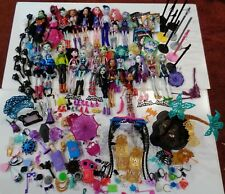 24 Monster High & Ever After Dolls with Clothes, Stands, Furniture & Accessories