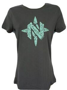 Women's NOMAD Logo Gray Hunting T Shirt Sz S NEW