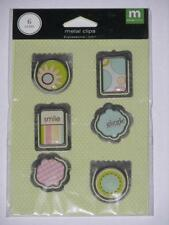 EXPRESSIONS METAL CLIPS  -  Making Memories  *