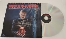 Doug Bradley Pinhead REAL hand SIGNED Hellraiser laser disc Movie EXACT PROOF