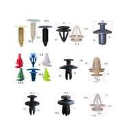 100pc Car Plastic Rivet Fasteners Clips Push Pin Bumper Fender Panel Accessories