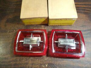 Pair NOS 1966 Ford Galaxie 500 XL LTD Custom Taillight Lenses w/Backup  T720