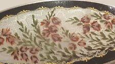 Jugendstil Art Deco Silber 930S Brosche Brooch Denmark Handmalerei mit Blumen