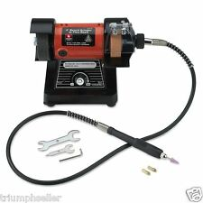 Mini Bench Grinder | Rotary Flexible Shaft Polisher Die Carving 10,000 RPM