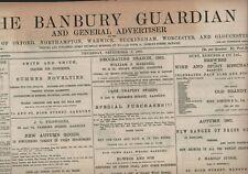 More details for the banbury guardian  september 5th 1901   original antique newspaper e2.691
