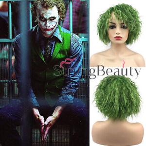Batman Joker Cosplay Wig Green Short Curly Hair Cosplay The Dark Knight Wavy Wig