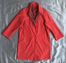 Impruneta Raincoat red plaid lining italy women's IT 48 50 US 14 L XL