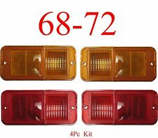 68 72 Chevy 4Pc Standard Side Lights Amber & Red GMC C/K Truck Blazer Suburban