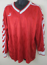Vtg PUMA 90s Football Shirt Retro Soccer Jersey Red German 88# Trikot Vintage XL
