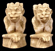 Vintage Mythical Pair of Peering Gargoyles Wall Hanging Protector