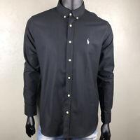 New POLO RALPH LAUREN Black White Logo Shirt Men's Long Sleeve Men T-Shirt