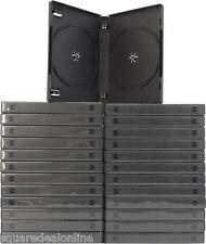 (25) DV2R22BK Double DVD 2-DVD 2DVD Boxes Cases Black Multi Wrap Around Sleeve