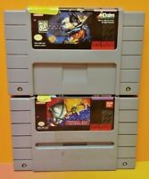 Ultraman + Batman Forever  - Super Nintendo SNES Authentic Game Tested + Working