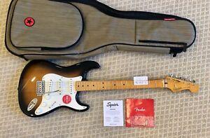 Fender Classic Vibe '50s Stratocaster Electric Guitar - Sunburst - With Gig Bag