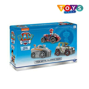 PAW Patrol True Metals Classic Pack Ryder, Everest and Tracker Free Delivery New