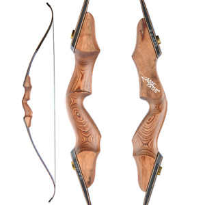 """60"""" Takedown Recurve Bow 20-60lbs 15'' Wooden Riser Archery Bow Hunting Shooting"""