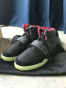 Nike Air Yeezy 2 Black Solar Red for