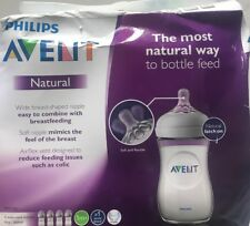 Philips Avent Natural- Baby Bottles , 9oz 4-pack Anti-colic- Clear, New