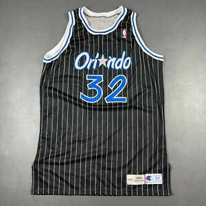 """100% Authentic Shaquille O'Neal Champion 95 96 Orlando Magic Game Jersey 54+4"""""""