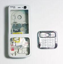 Housing Facia Fascia faceplate case skin cover for nokia N73 white    000002