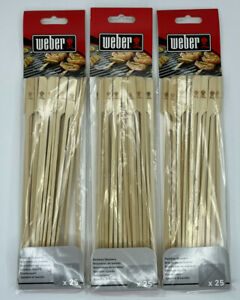 Weber Bamboo Skewer (25-Pack) 6608 lot of 3
