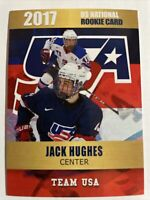 Jack Hughes 2017 US National Rookie Phenoms Card Team USA New Jersey Devils