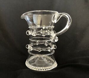 Vintage Juliska Czech Glass Harriet Pitcher Hand Blown Lead Free Signed-MINT
