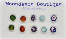 "Handmade Unique 1/4"" Fimo Polymer Ball Bead Pierced Post Earrings Set #6"