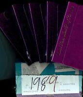 1989 S (1) ONE LOT/SET = 5 PROOF COINS ORIGINAL MINT PACKAGING Rare Vault Find