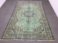 FREE SHIPPING! Oushak Rug 5.9x9.4ft Vintage Minth Green Rug Turkish Rug