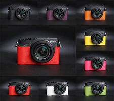 Handmade Real Leather Half Camera Case Camera bag for Panasonic LX100 8 colors