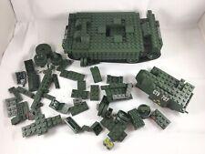Mega Bloks Army Green Tank Jeep Military Black Ops Halo Lego Bricks Building Toy